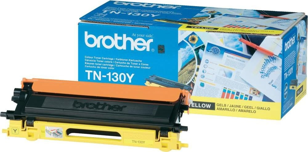 Brother TN130Y lasertoner, gul, 1500s