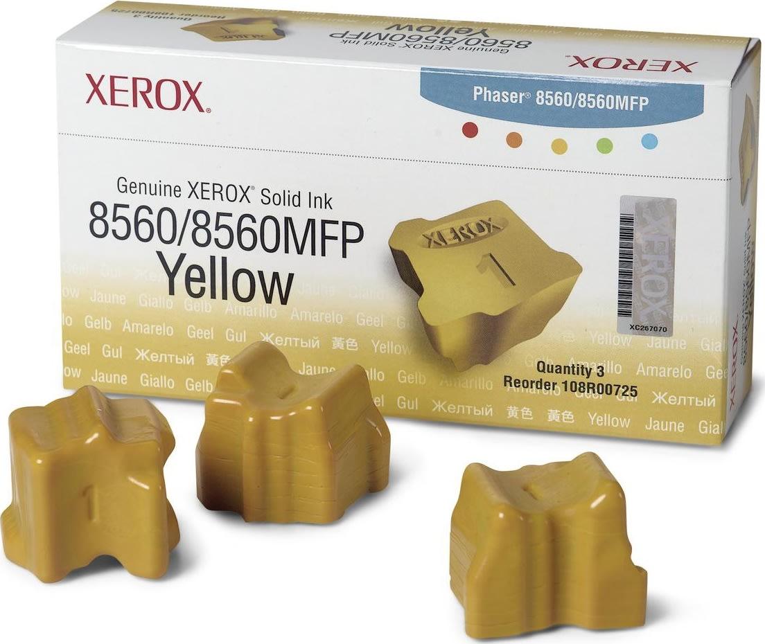 Xerox 1108R00725 lasertoner, gul, 3400s