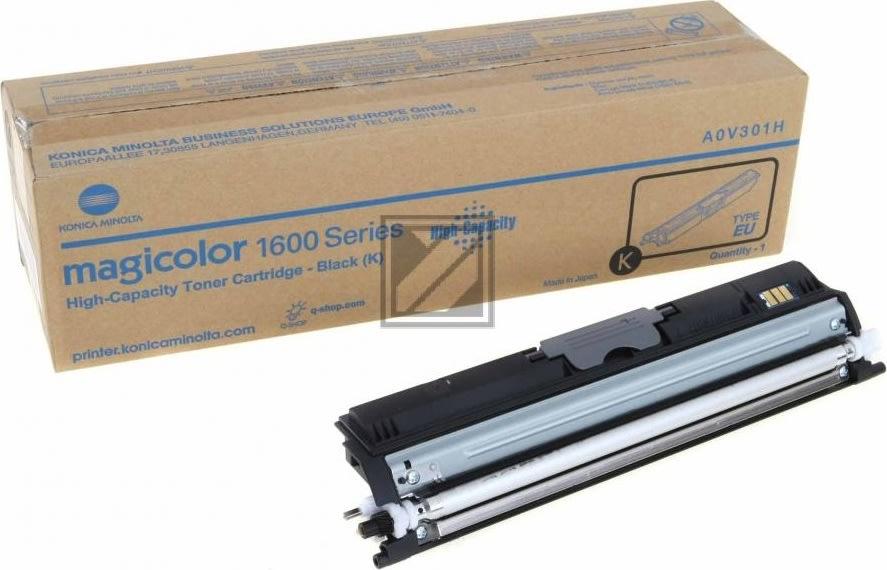 Konica Minolta A0V301H toner, sort, HC, 2500s