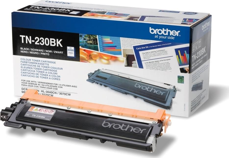 Brother TN230BK lasertoner, sort, 2200s