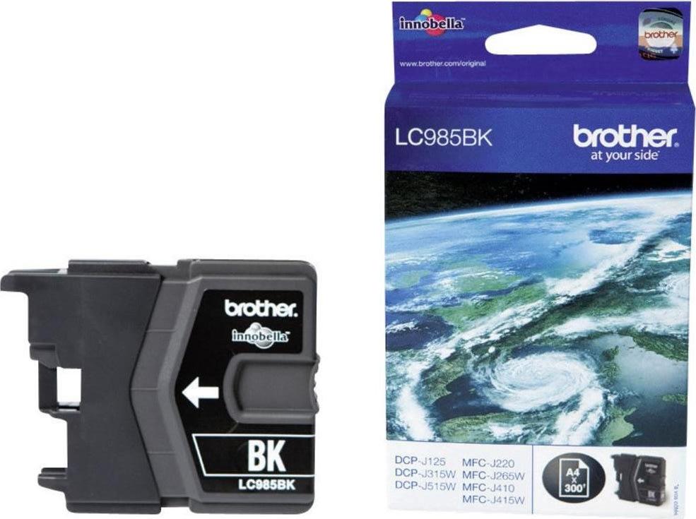 Brother LC985BK blækpatron, sort, 300s