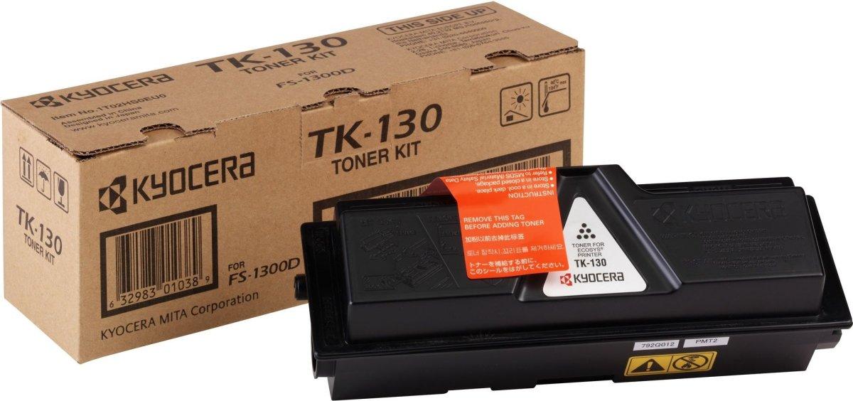 Kyocera TK-130 lasertoner, sort, 7000s