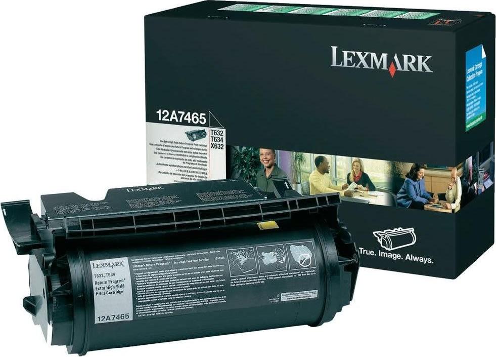 Lexmark 12A7465 lasertoner, sort, 32000s