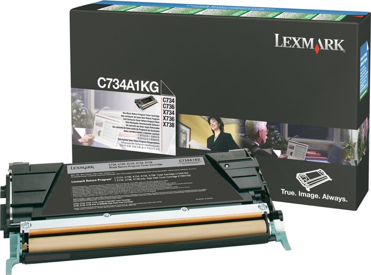 Lexmark C734A1KG lasertoner, sort, 8000s