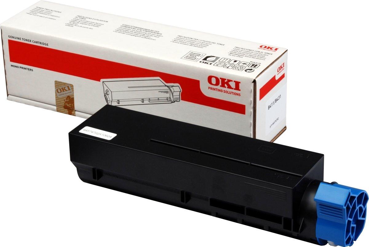 OKI 44574702 lasertoner, sort, 3000s