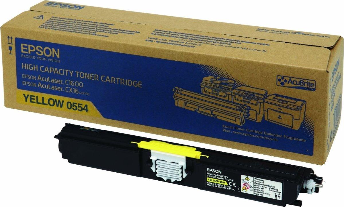 Epson C13S050554 lasertoner, gul, 2700s