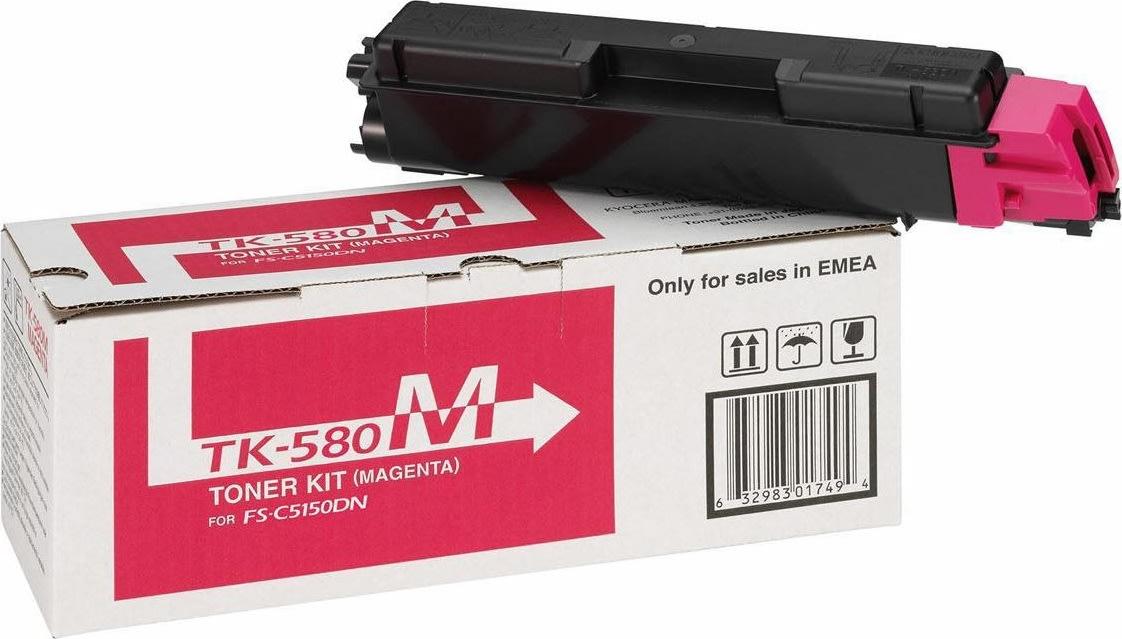 Kyocera TK-590M lasertoner, rød, 5000s