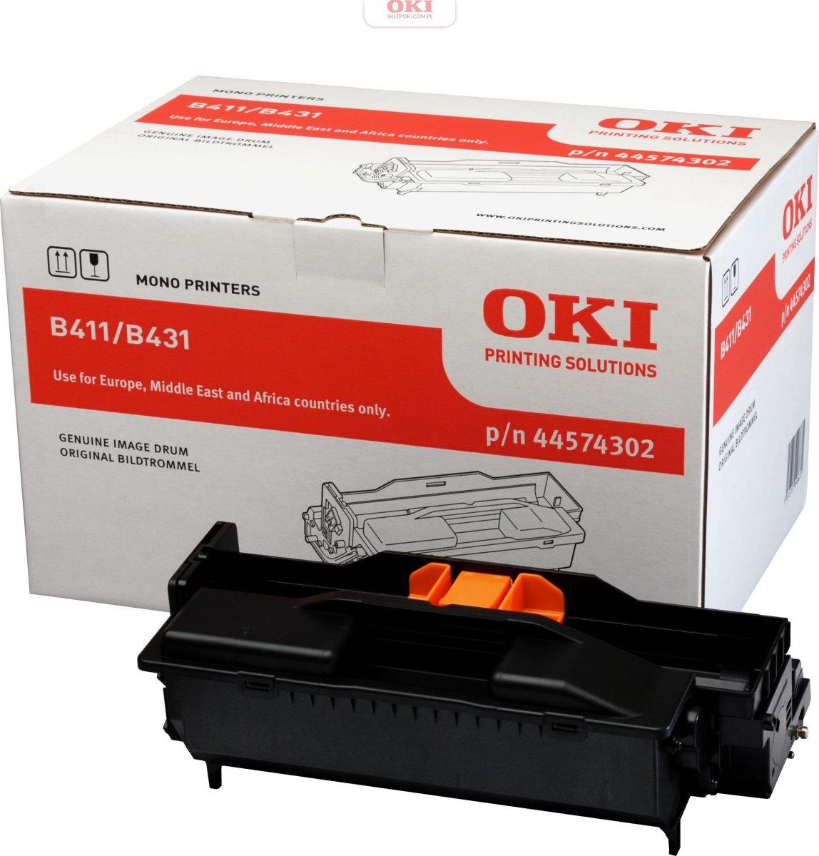 OKI 44574302 lasertromle, sort, 23000s