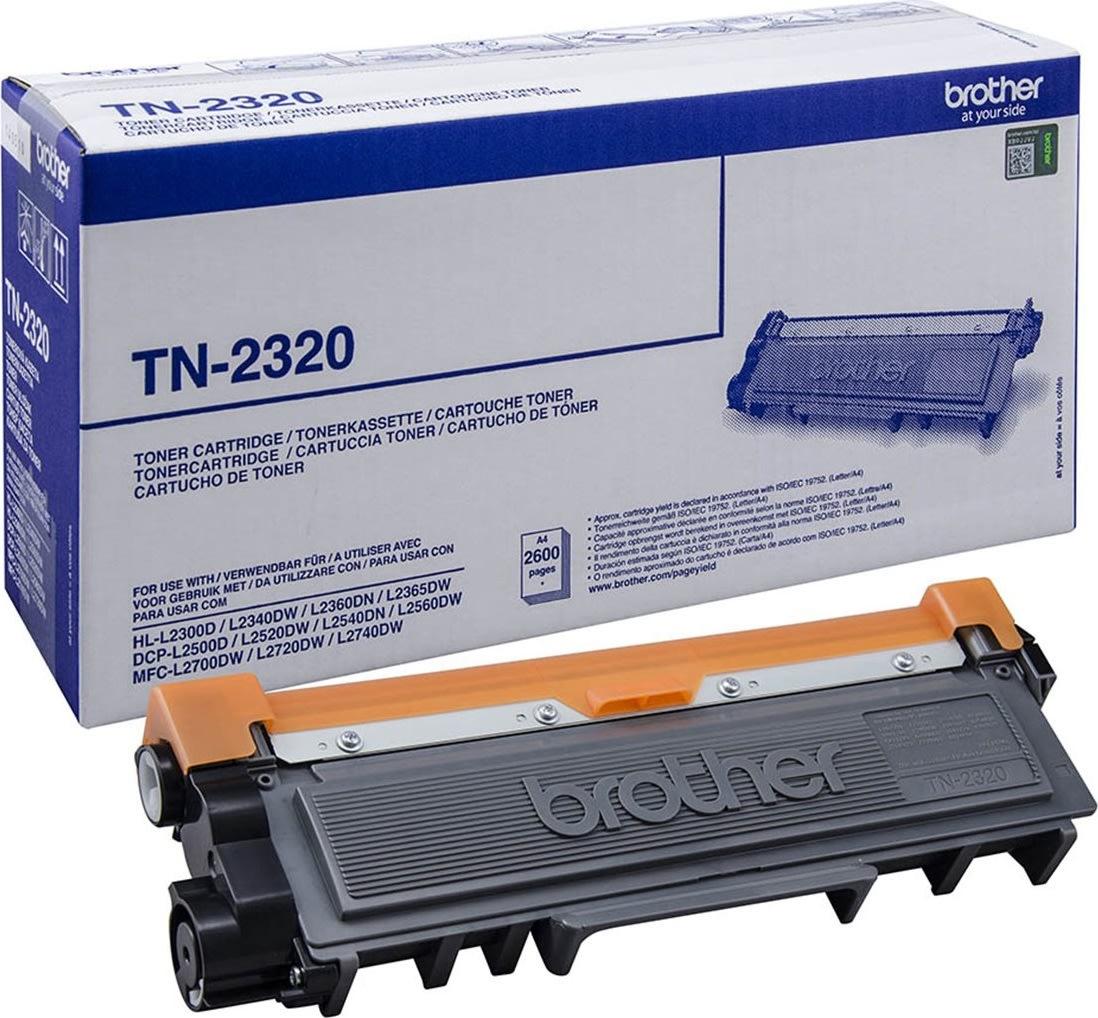 Brother TN2320 Lasertoner, sort, 2400 s.