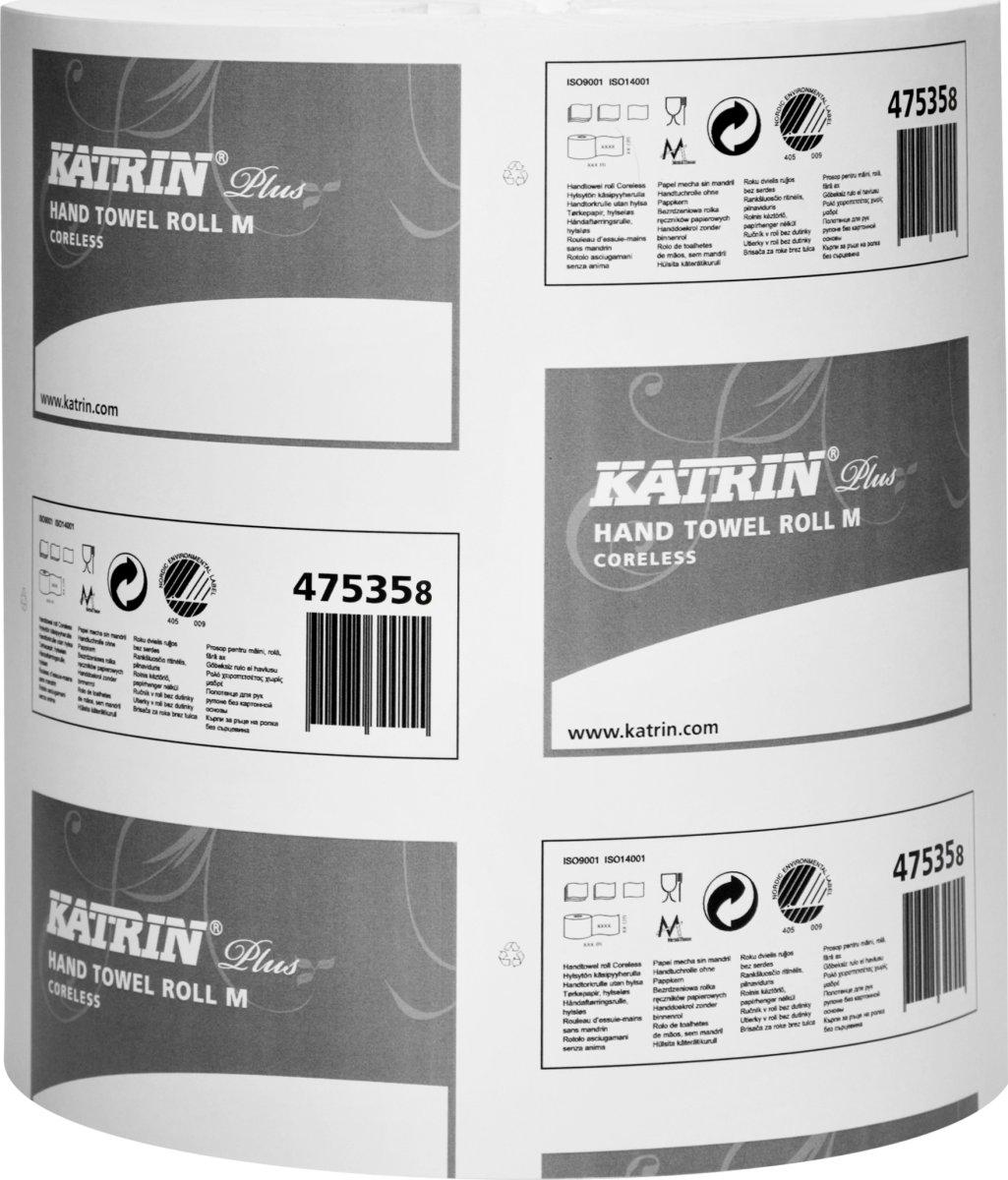 Katrin Plus M centerfeedrulle, 1-lags, 6 stk
