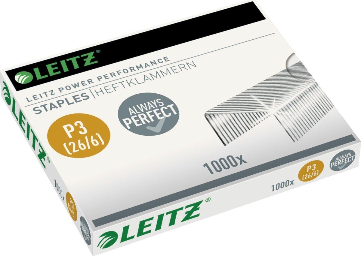 Leitz 26/6 Performance P3 hæfteklammer, 1000 stk.