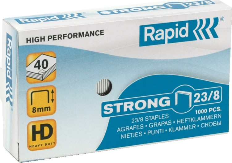 Rapid Strong 23/8 Hæfteklammer, 1000 stk.