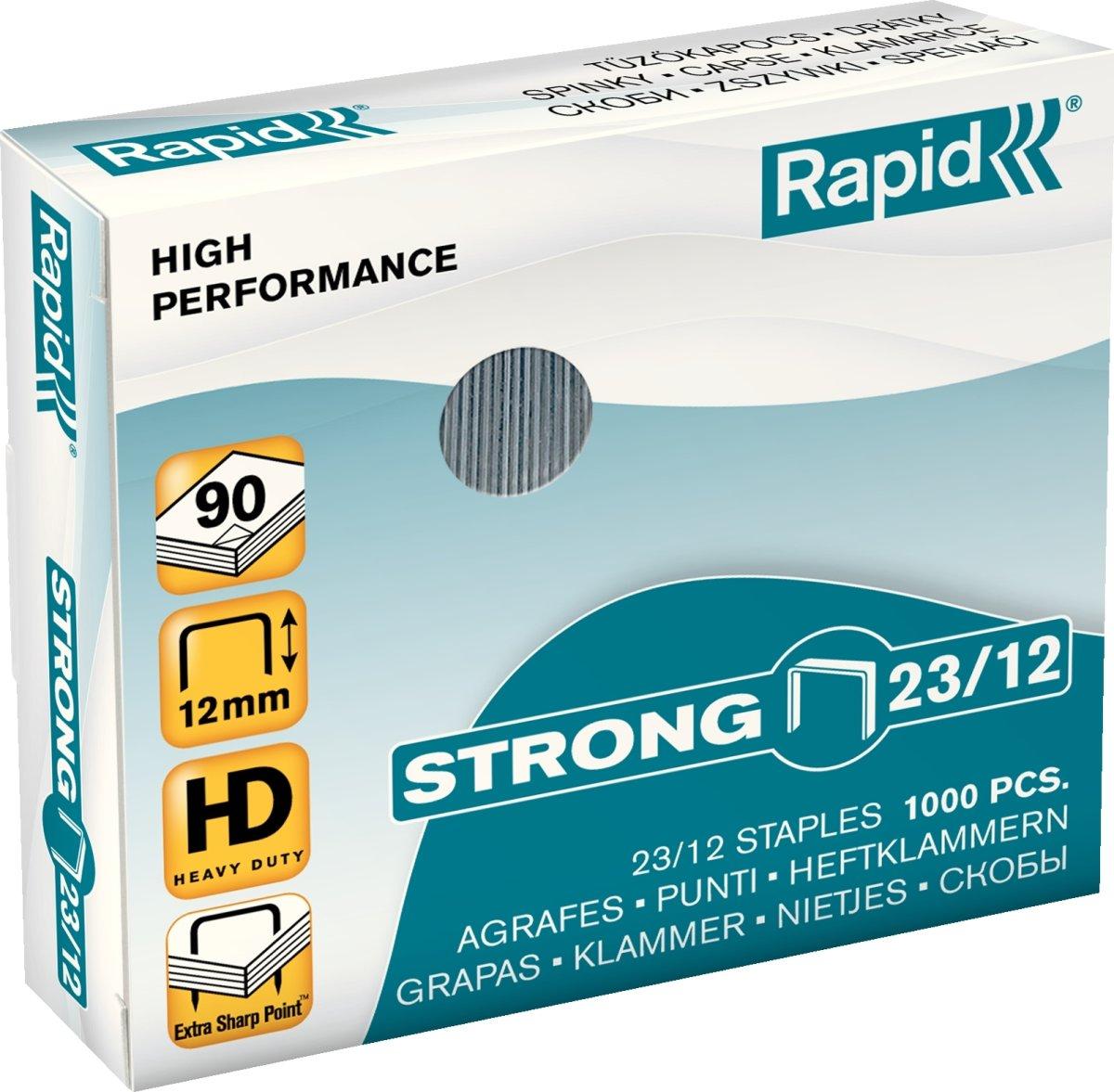 Rapid Strong 23/12 Hæfteklammer, 1000 stk.