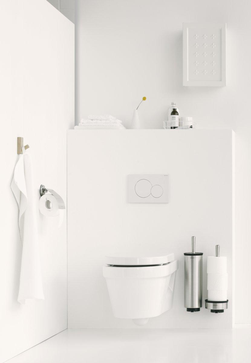 Brabantia Toiletbørste og holder t/væg, blank stål