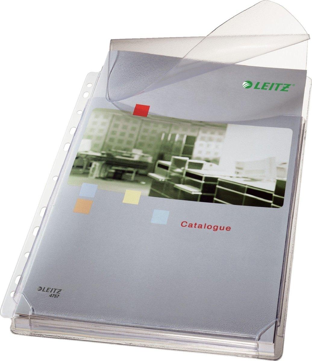Leitz ekspanderende plastlommer A4, med flap, 5stk