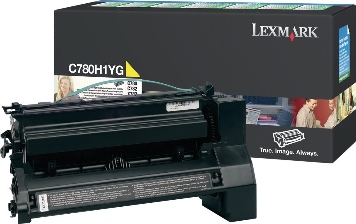 Lexmark C780H1YG lasertoner, gul, 10000s