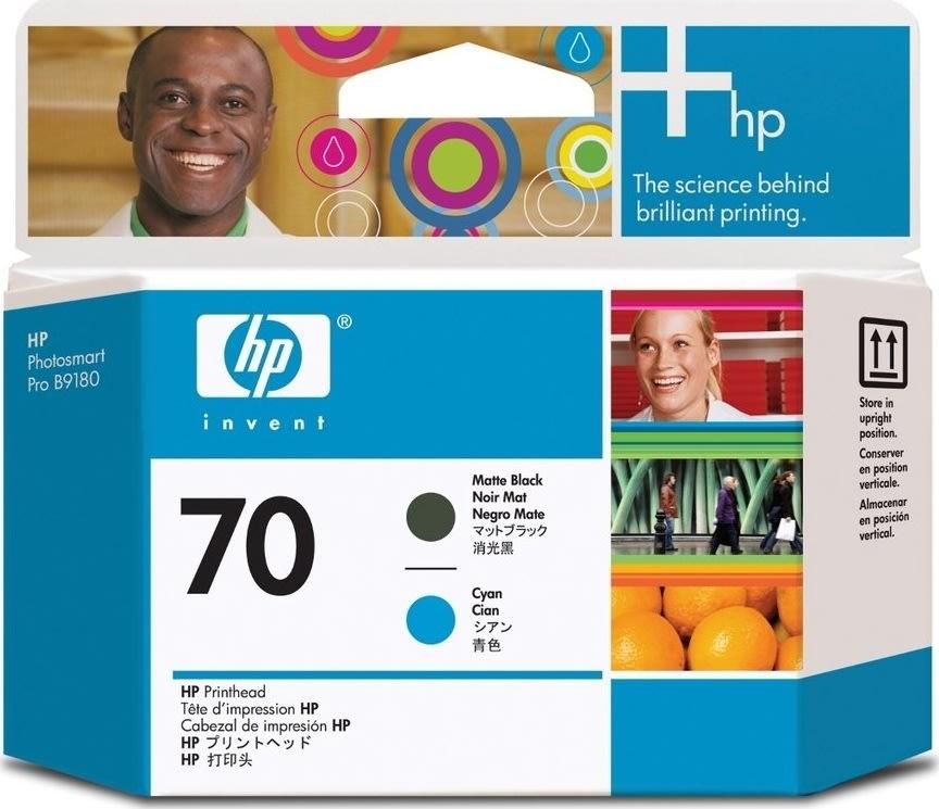 HP nr.70/C9404A printhoved, sort og blå