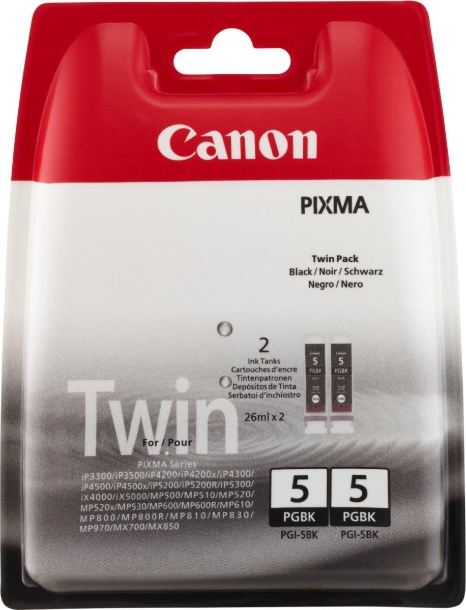Canon PGI-5BK blækpatroner, 2-pak