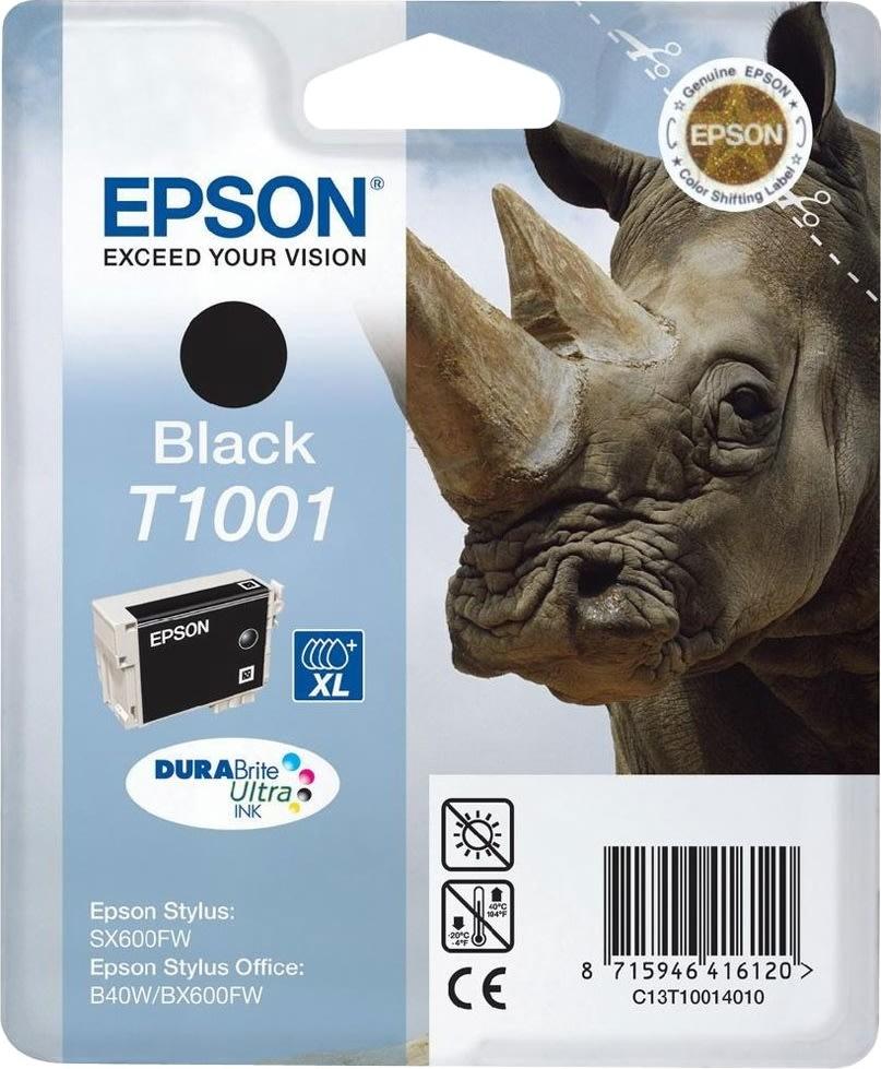 Epson nr.T1001/C13T10014010 blækpatron, sort, 1000