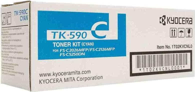 Kyocera TK-590C lasertoner, blå, 5000s