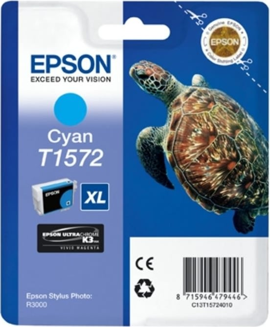Epson nr.T1572/C13T15724010 blækpatron, blå, 26ml
