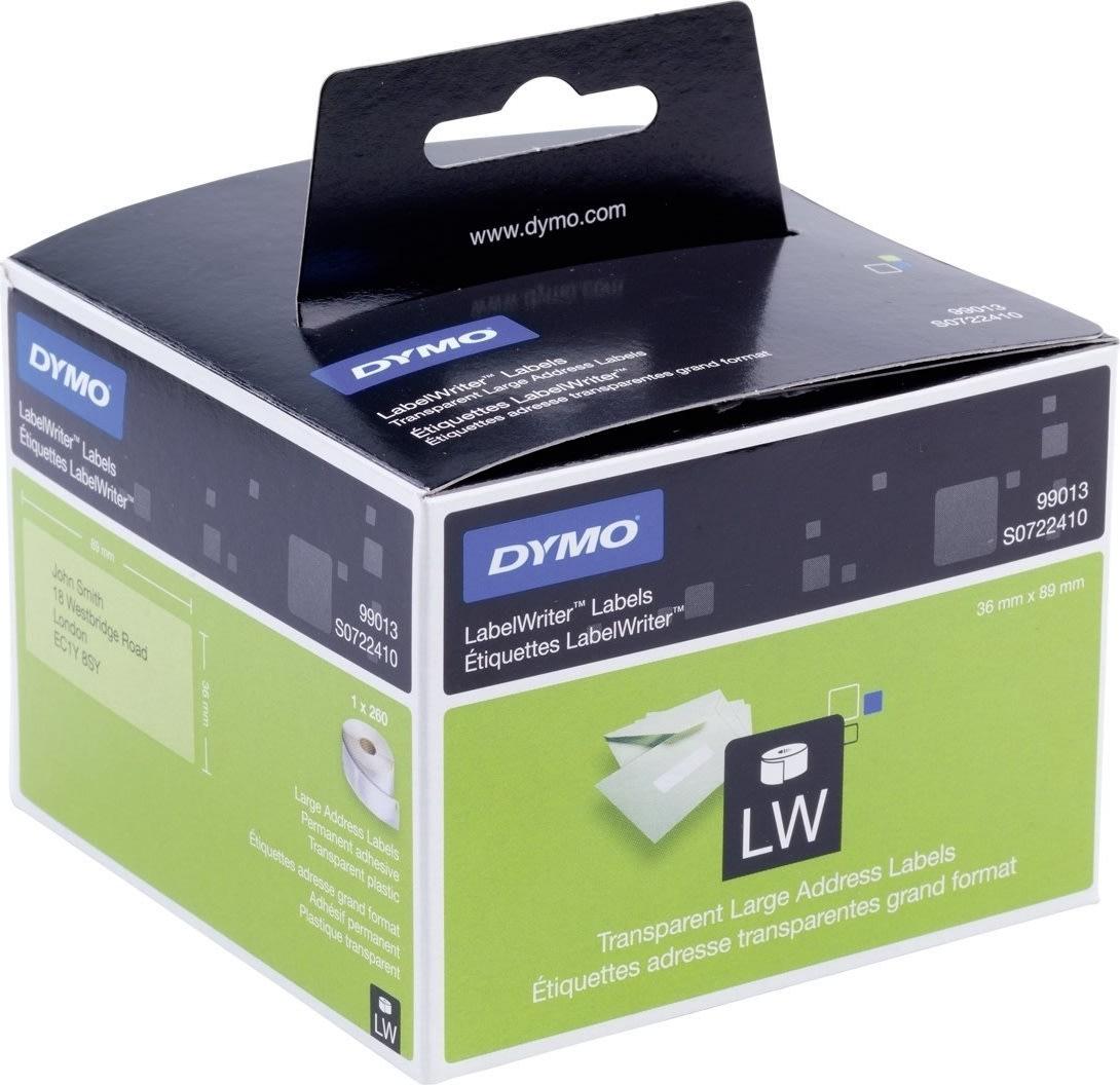 Dymo LW adresseetiket plast 36x89 mm