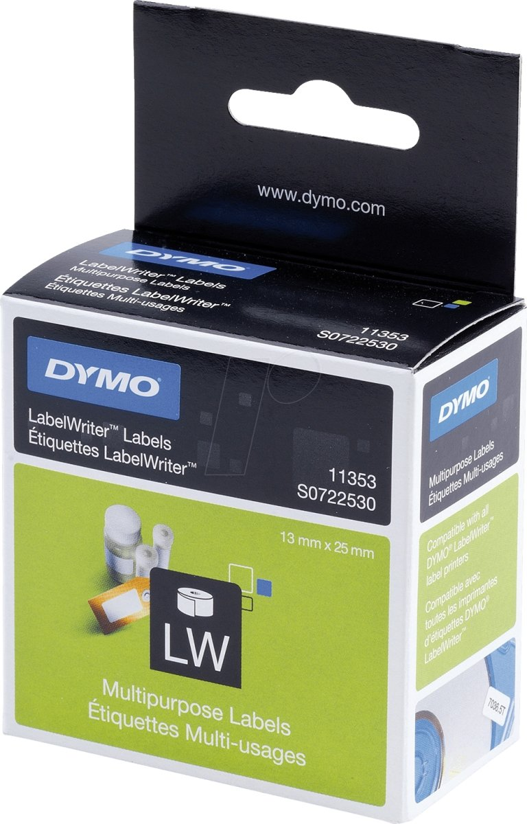 Dymo LW universal-etiket 13x25 mm