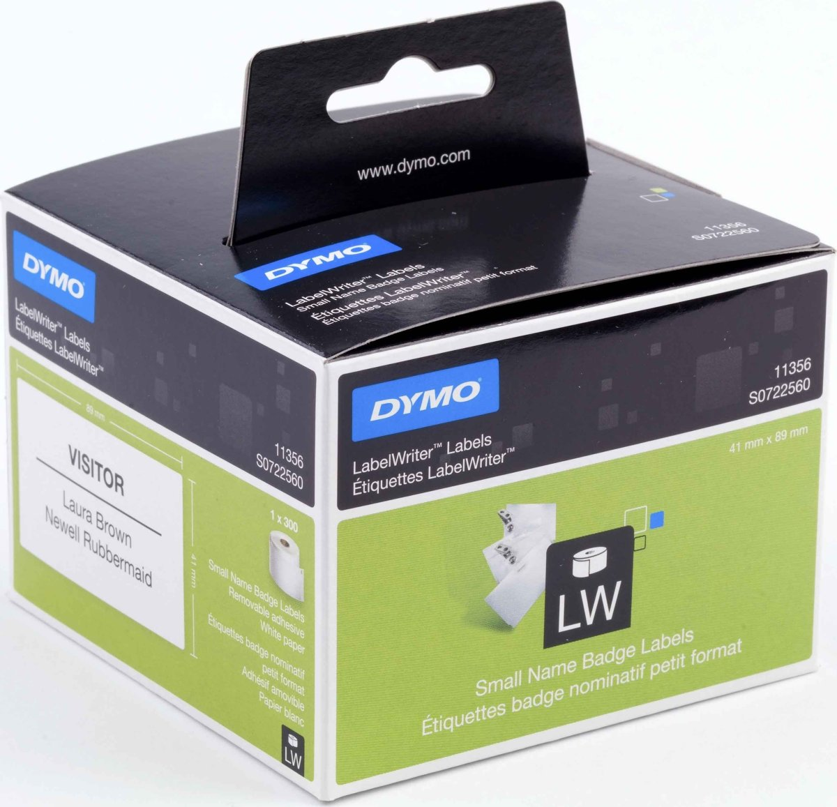 Dymo LW navneskilt 41x89 mm