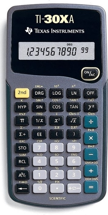 Texas Instruments TI-30XA lommeregner
