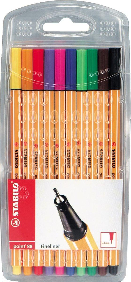 STABILO point 88, sæt á 10 farver