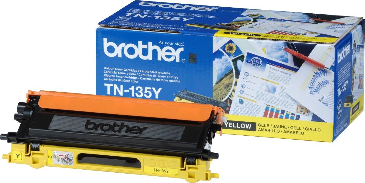 Brother TN135Y  lasertoner, gul, 4000s