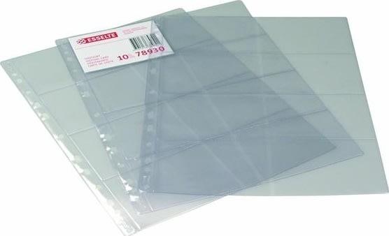 Esselte visitkortlomme 10,5x7,5cm, til 16 kort