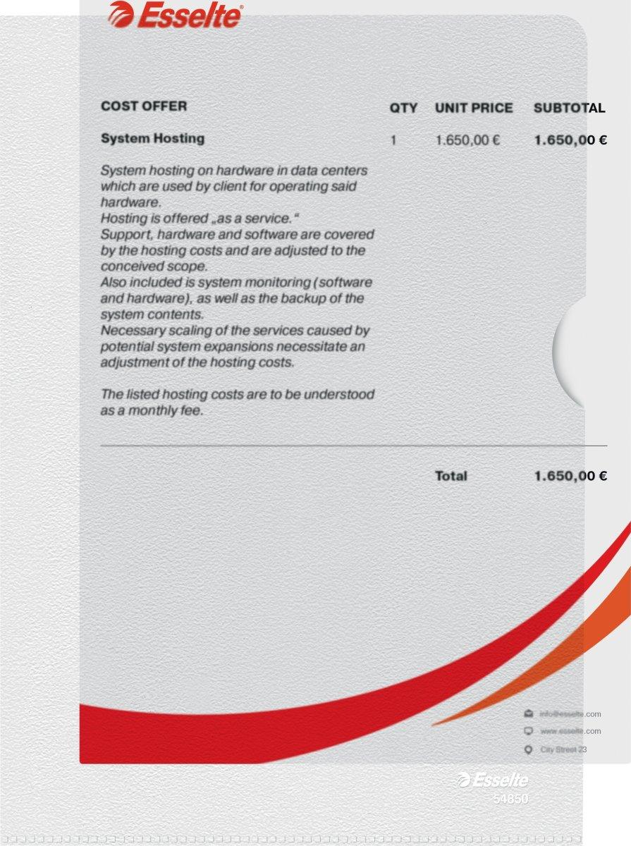 Esselte chartek A5, 0,11mm