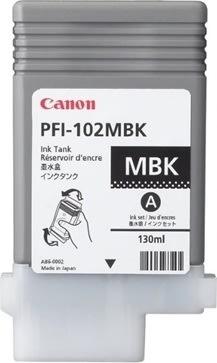 Canon PFI-102MBK blækpatron, sort, 130ml