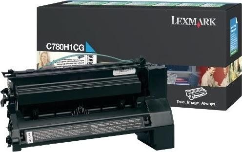 Lexmark C780H1CG lasertoner, blå, 10000s