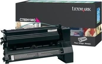 Lexmark C780H1MG lasertoner, rød, 10000s
