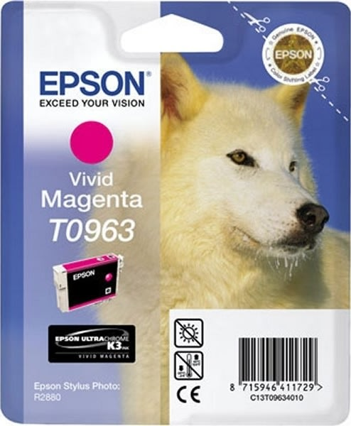 Epson nr.T0963/C13T09634010 blækpatron, rød, 450s