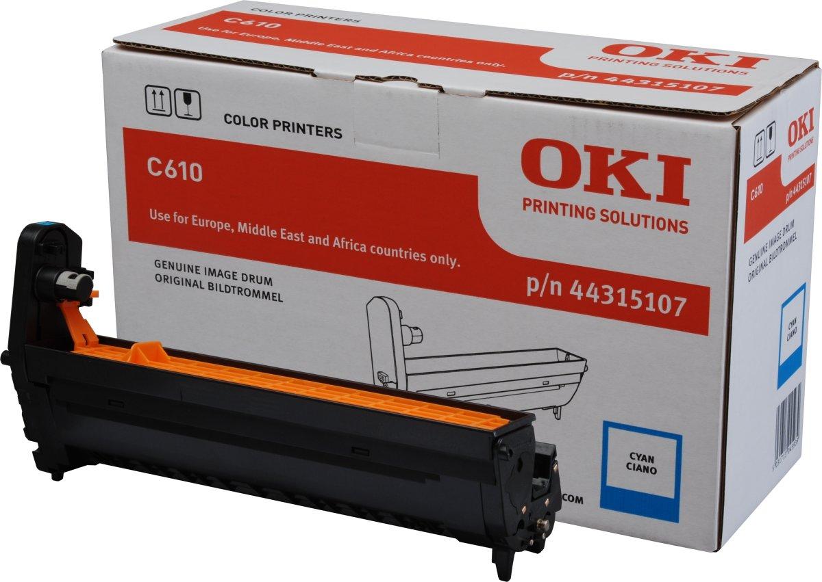 OKI 44315106 lasertromle, rød, 20000s