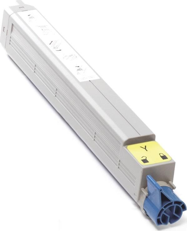 OKI 44036021 lasertoner, gul, 15000s
