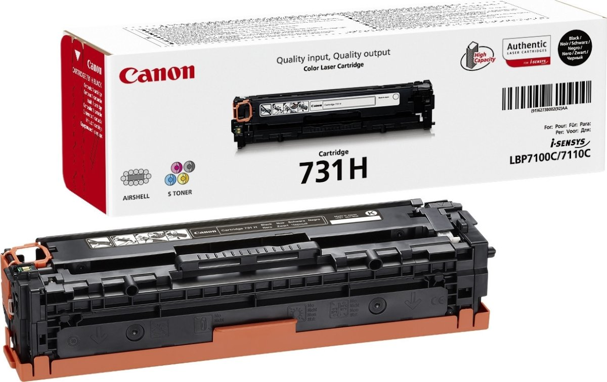 Canon 731HBK Lasertoner, sort, 2400s