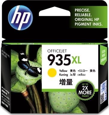HP 935XL/C2P26AE blækpatron, gul, 825s.