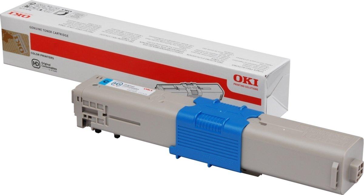 OKI 46508711 Lasertoner, Cyan(Blå), 3000 s.