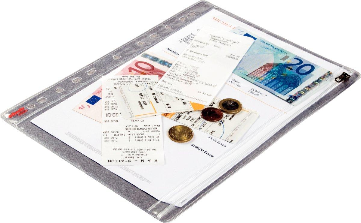 Esselte lomme A4, med lynlås, 5stk