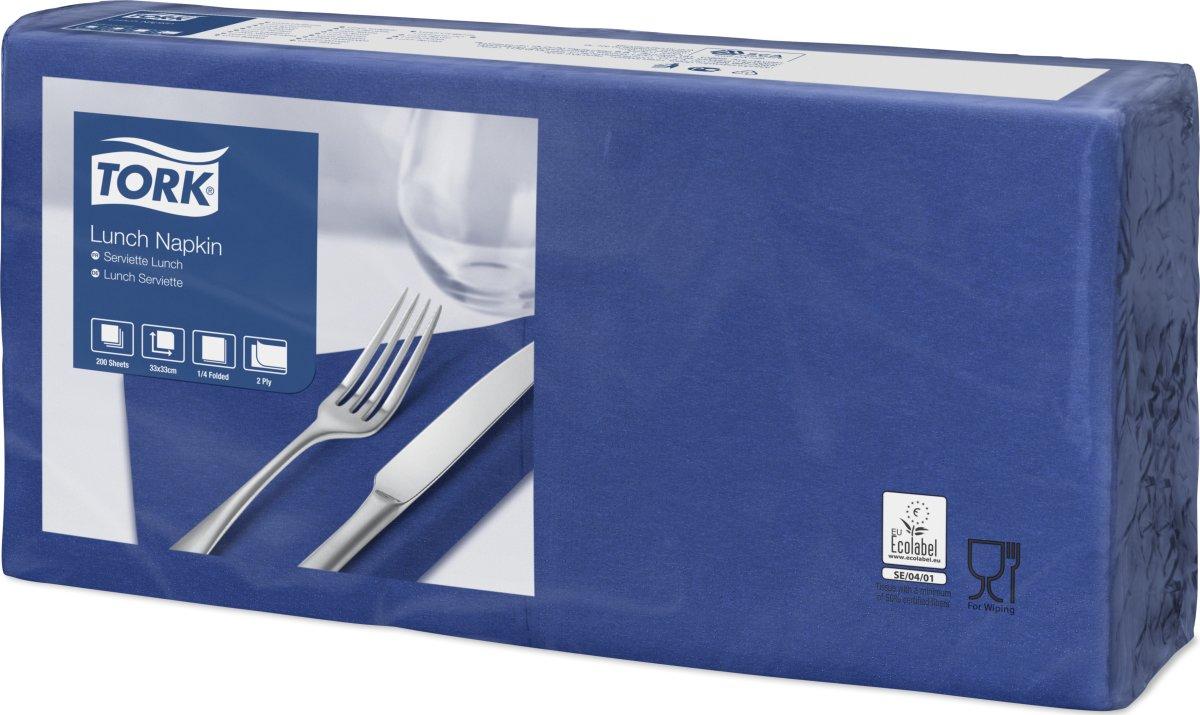 Tork Frokostservietter, 2-lags, blå, 200 stk.