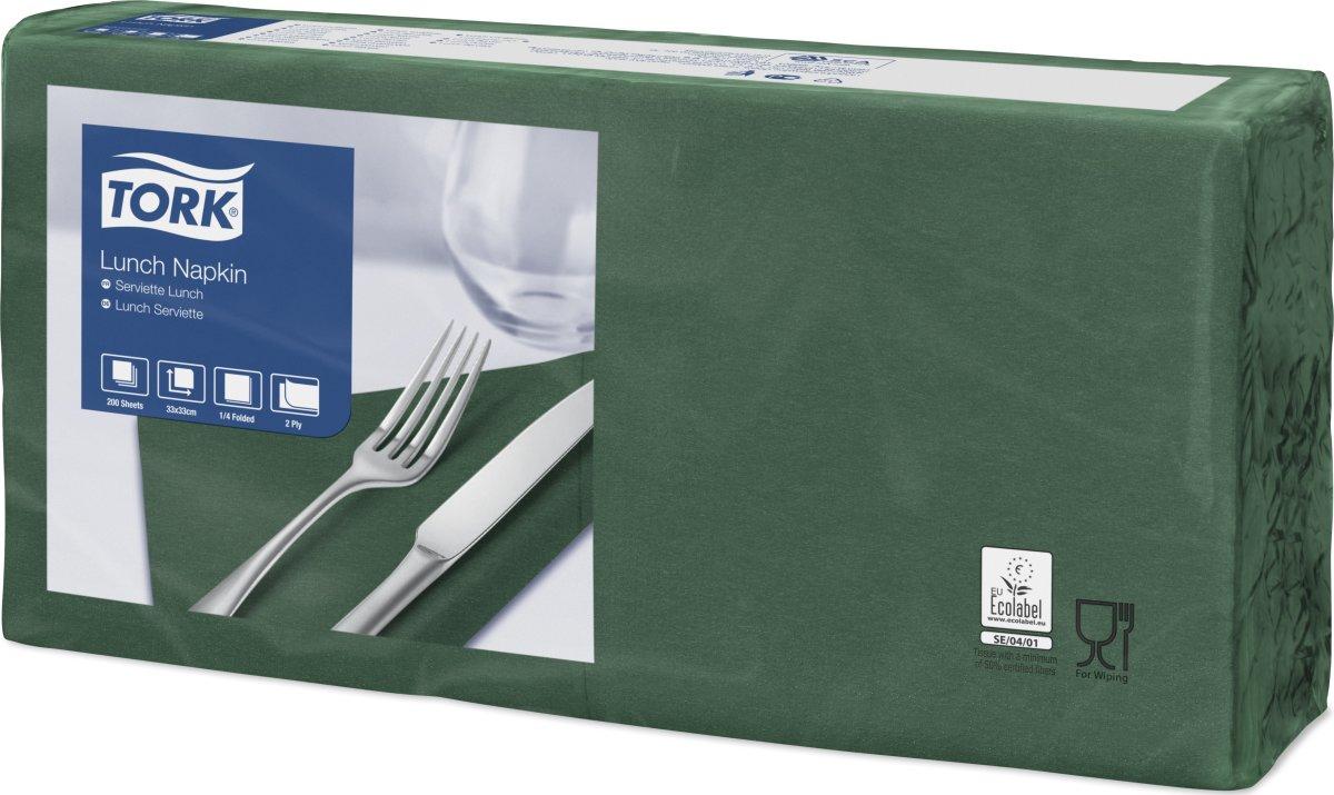 Tork Frokostservietter, 2-lags, grøn, 200 stk.
