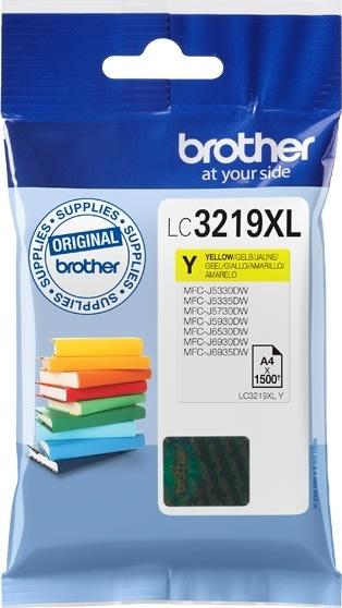 Brother LC3219XLY XL blækpatron, gul, 1500s
