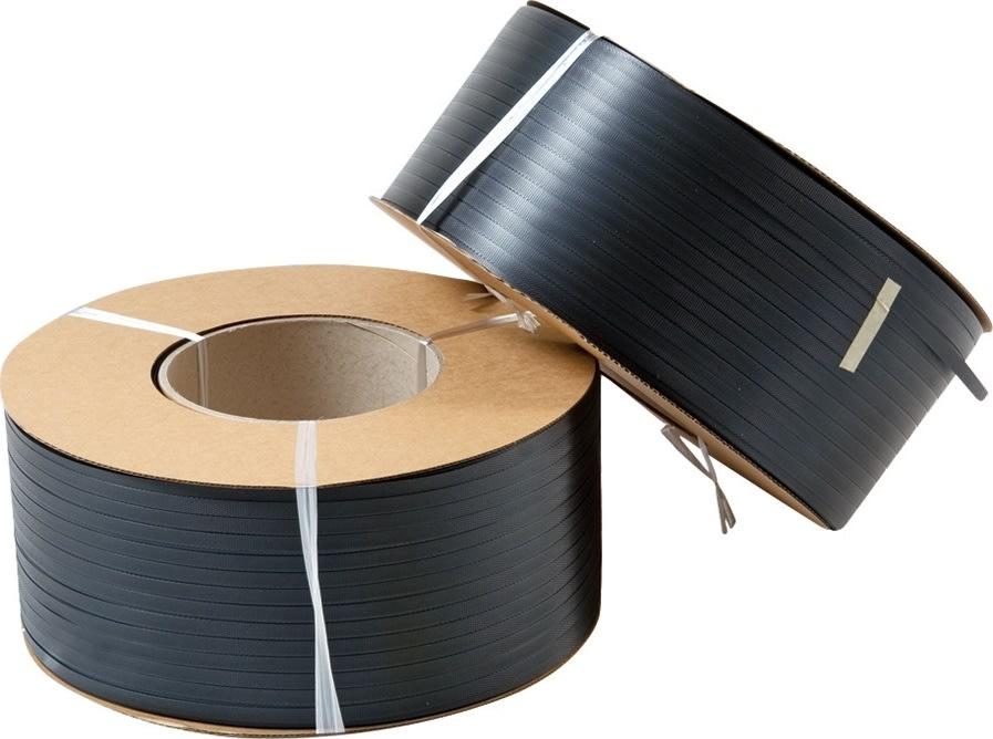 Maskinbånd PP Ø200 mm, 130 kg, sort, 3000 m
