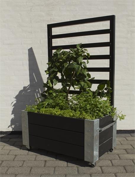 Plus Cubic Blomsterkasse 87x50x130 cm, Sort