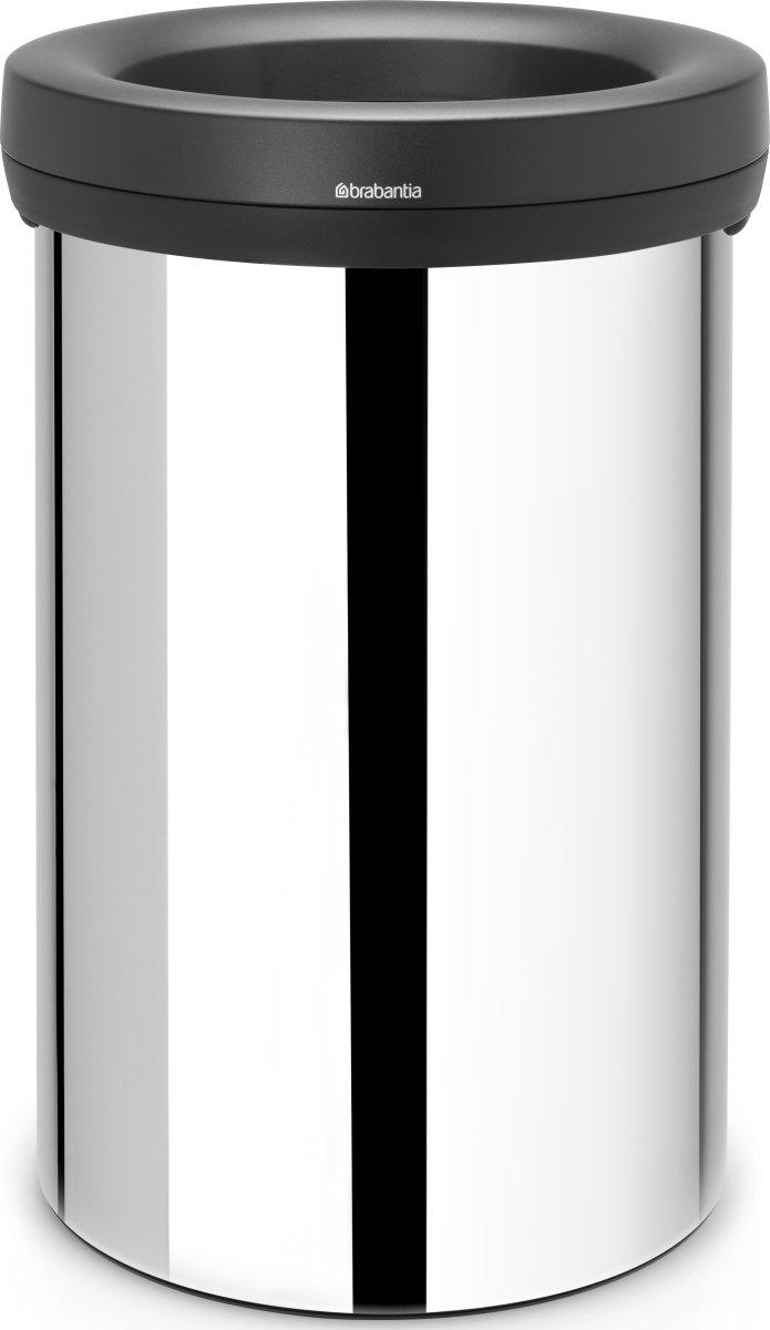 Brabantia Open Top Bin 60 liter, blank stål