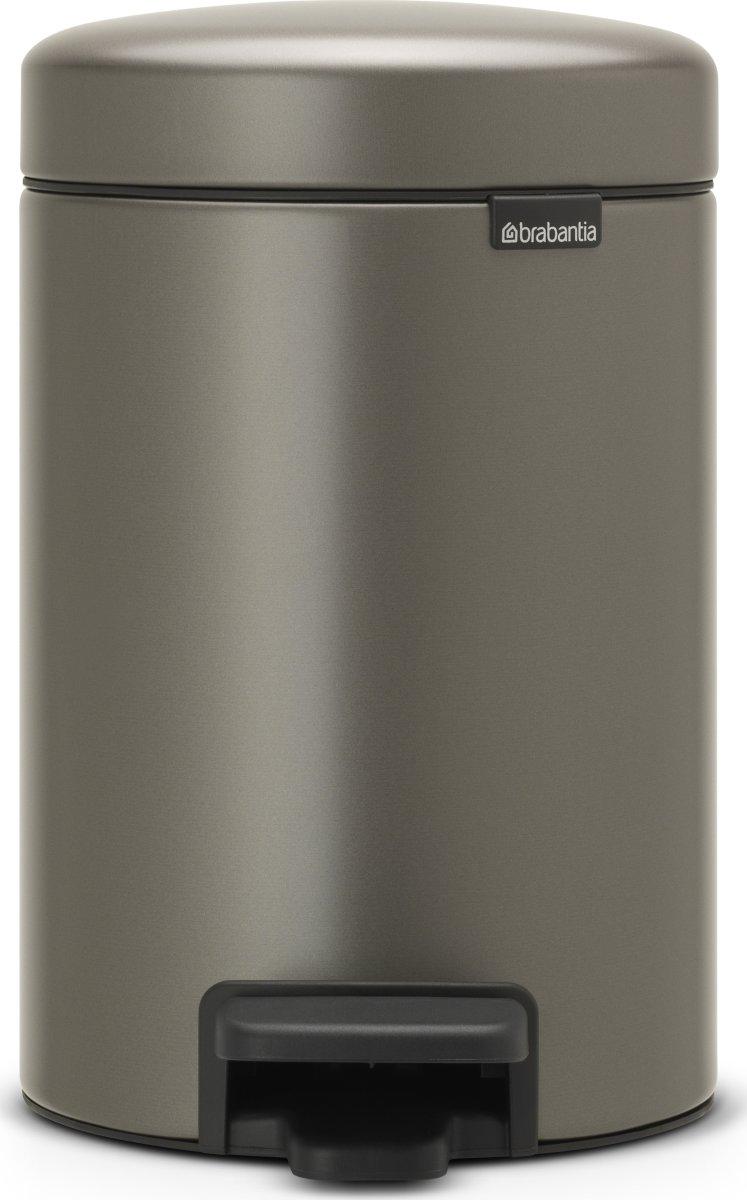 Brabantia Pedalspand 3 L, platinum